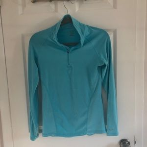 Champion C9 Duo Dry 1/4 Zip Pullover Turquoise XS